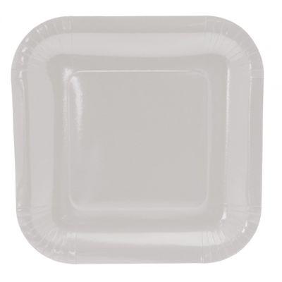 9 Inch Square White Plates