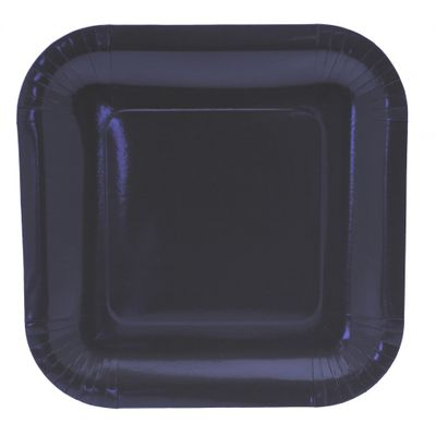 9 Inch Square Dark Blue Party Plates