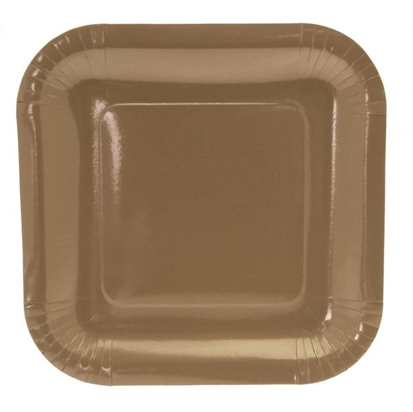 9 Inch Square Gold Party Plates