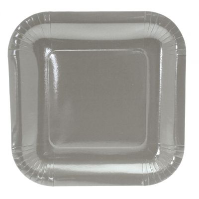 9 Inch Silver Square Party Plates
