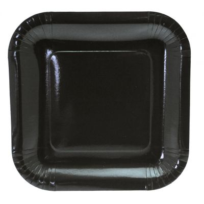 9 Inch Black Square Plate
