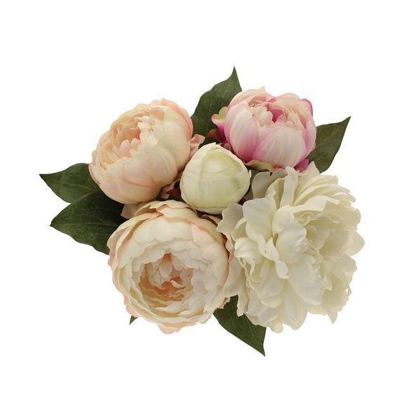 Peony Bouquet Cream & Pink