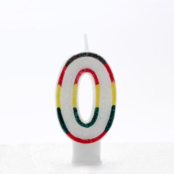 Multicoloured Number Candle Age 0