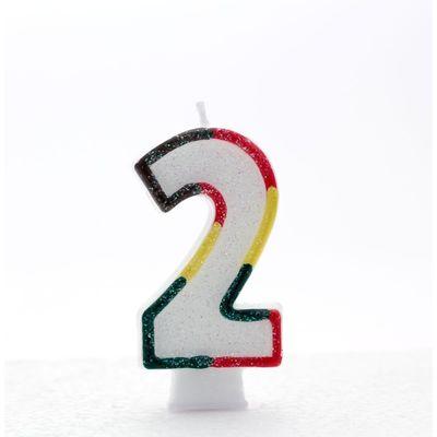 Multi Coloured Age 2 Candle