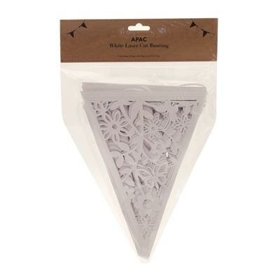 Ivory Laser Cut Bunting