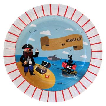 Patch Pirate Party Plates