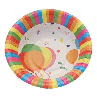 Confetti Balloons Party Bowls (8pk)