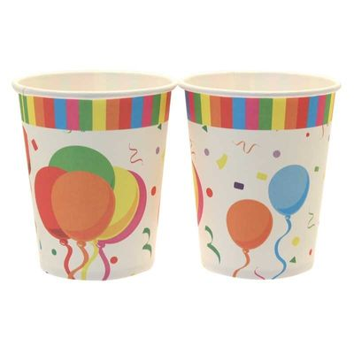 Confetti Balloons Party Cups (8pk)