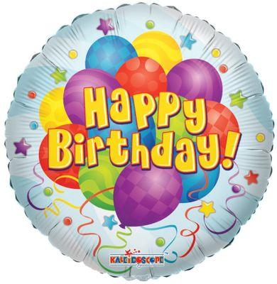"36"" Happy Birthday Circle Balloon"