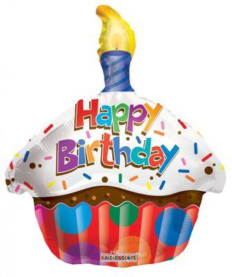 "18"" Birthday Cupcake Balloon"