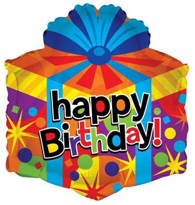 "18"" Birthday - HB Gift Box Shape"