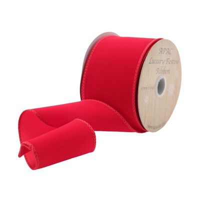 10yds Red Velvet Ribbon