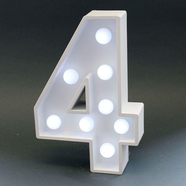 Number Four Light Sign