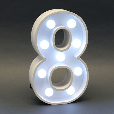 Number 8 Light Sign