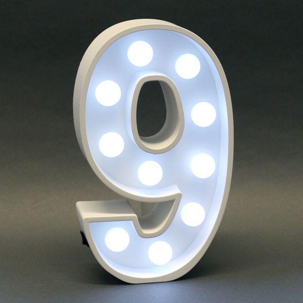 Light Up 9 Sign
