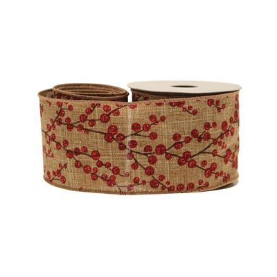 Berries Cotton Natural With Red 63mm