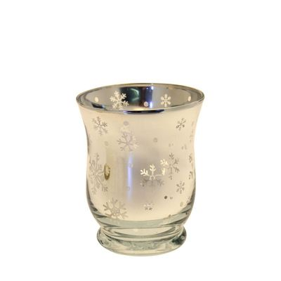 Glass Gold Candle Holder 11cm