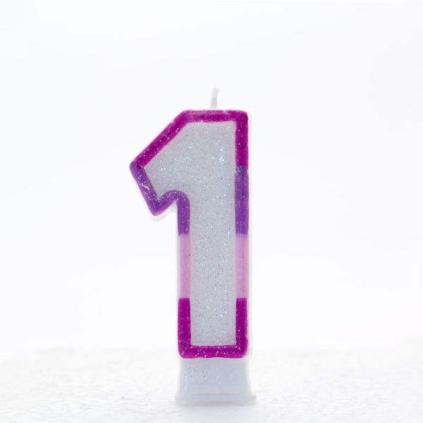 Pink Number 1 Candle