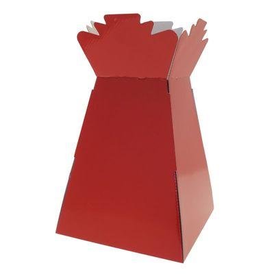 Red Living Vase