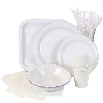 White Partyware