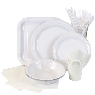 White Partyware
