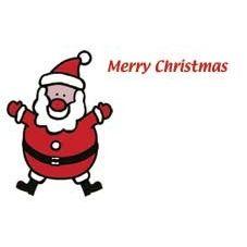Merry Christmas - Santa Card