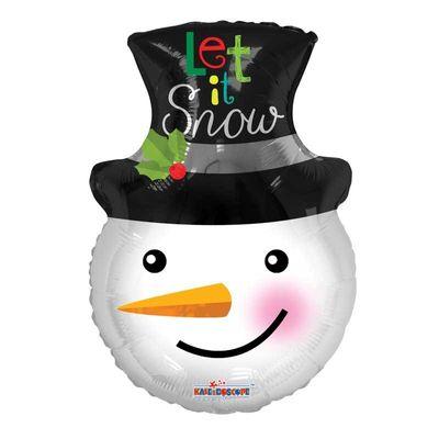 Let It Snow Snowman Balloon
