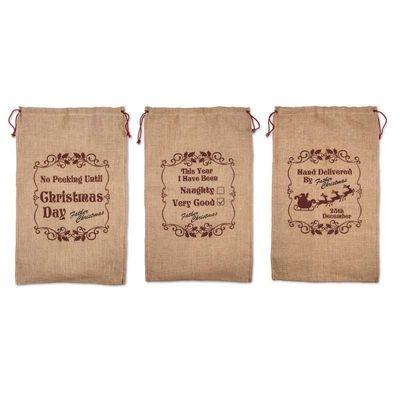 Hessian Santa Sacks