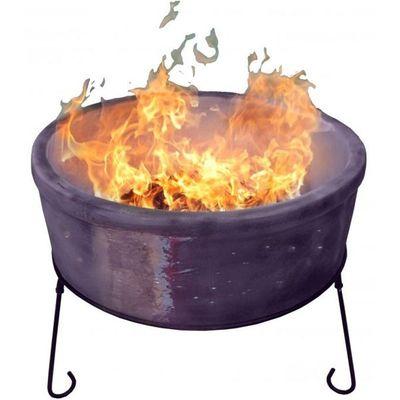 Gardeco Atlas Chimenea Fire Bowl - Mottled Purple