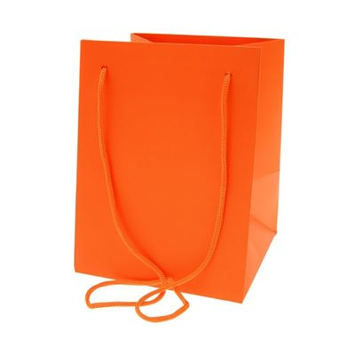 Orange Hand Tied Bag