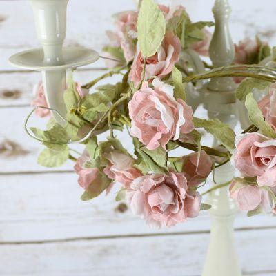 Light Pink Rose Garland