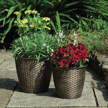 Gablemere Basket Weave Planters