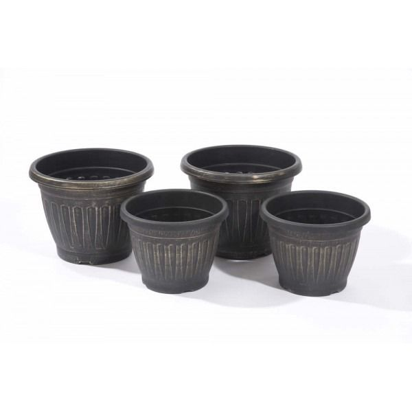 Gablemere Geogian Style Planters - Antique Gold