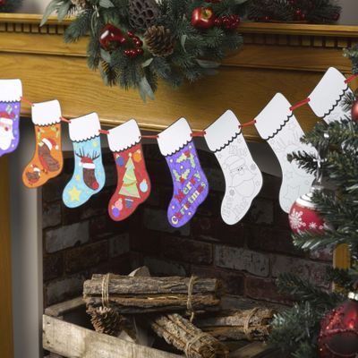 Colour In Christmas Bunting