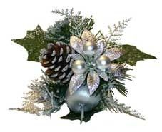 Silver Christmas Pick