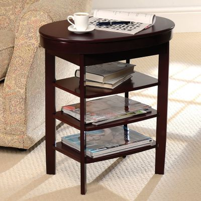 Gablemere Swivel Top Side Table - Mahogany