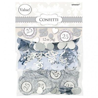 25 Silver Confetti