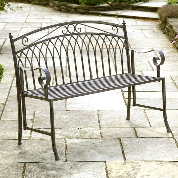 Gablemere Versailles Bench - Washed Grey - 4182