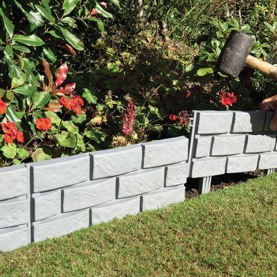 Gablemere Brick Effect Border - Grey