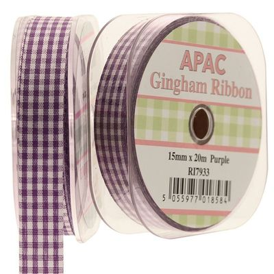Purple Gingham Ribbon