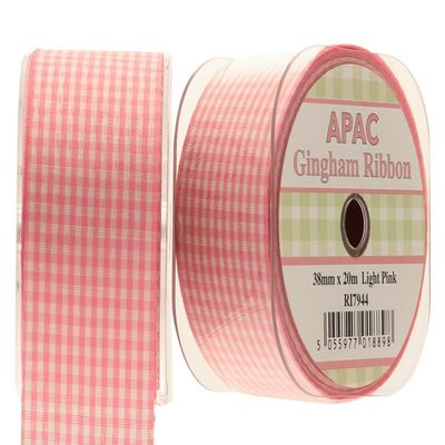 Light Pink Gingham Ribbon