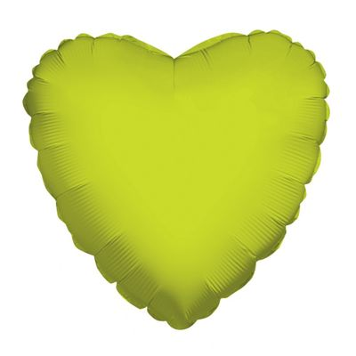 Lime Green Heart Balloon