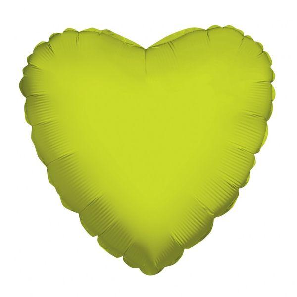 Lime Green Heart Balloon