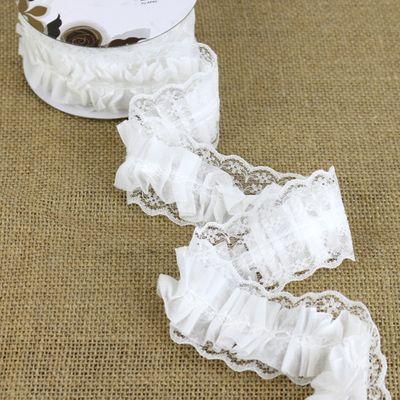 White Ruffle Ribbon