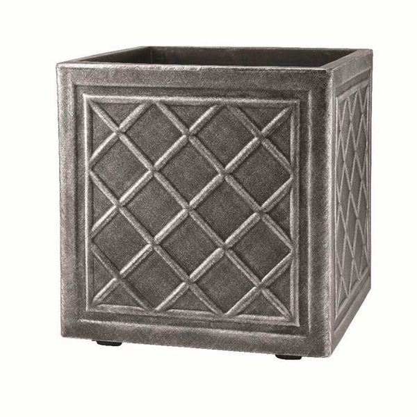 Stewart Square Lead Effect Planter - Small