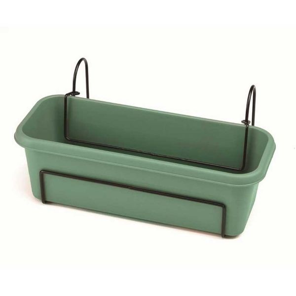 Stewart 40cm Balcony Trough Set - Green