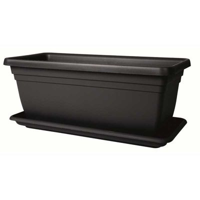 Stewart 80cm Deep Trough - Black