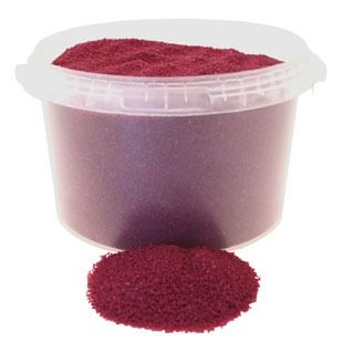 Burgundy Sand in Bucket