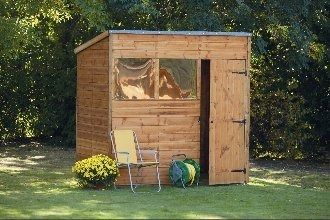 Forest Garden Overlap Pent Shed 7x5