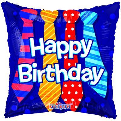Happy Birthday Ties Balloon